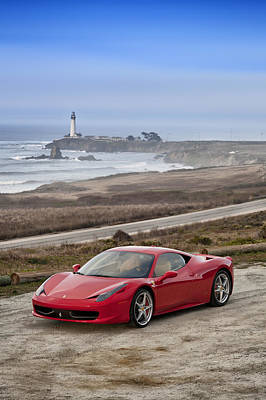 Poster featuring the photograph Ferrari 458 Italia by ItzKirb Photography