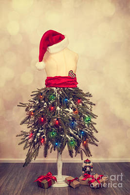 Festive Christmas Mannequin Poster by Amanda Elwell