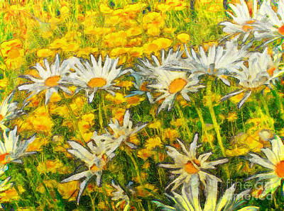 Field Of Daisies Poster by Claire Bull