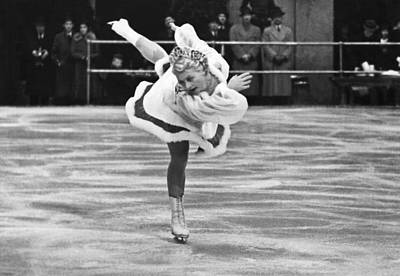 Figure Skater Melitta Brunner Poster by Underwood Archives
