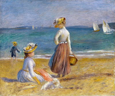 Figures On The Beach Poster by Auguste Renoir
