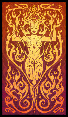 Fire Spirit Poster by Cristina McAllister