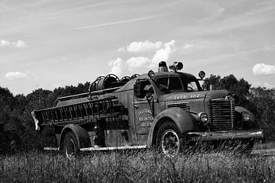 Fire Truck 2 Poster by Off The Beaten Path Photography - Andrew Alexander
