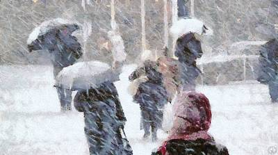 Poster featuring the digital art First Snow by Gun Legler