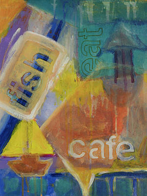 Poster featuring the painting Fish Cafe by Susan Stone
