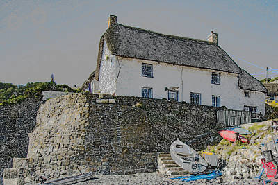 Poster featuring the photograph Fishermans Cottage by Brian Roscorla