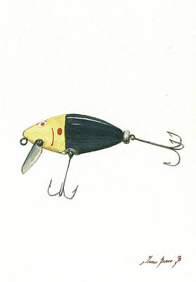 Fishing Lure  Poster by Juan Bosco
