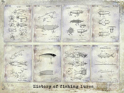 Fishing Lure Patent History Poster by Jon Neidert