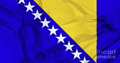 Flag Of Bosnia Poster