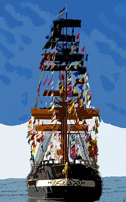 Flags Of Gasparilla Poster by David Lee Thompson