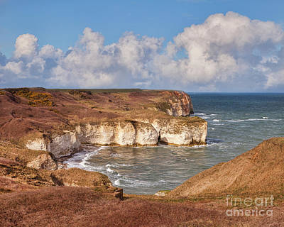 Poster featuring the photograph Flamborough Head by Colin and Linda McKie