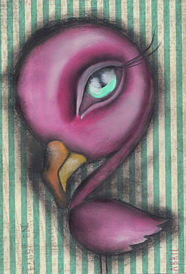 Flamingo Poster by Abril Andrade Griffith