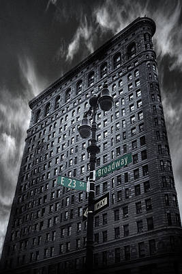 Poster featuring the photograph Flatiron Noir by Jessica Jenney