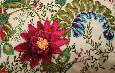 Floral Mandala Tapestry - Detail Poster by Dora Sofia Caputo Photographic Art and Design