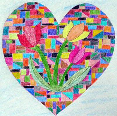 Flowers For My Love Poster by Jeanette Oberholtzer