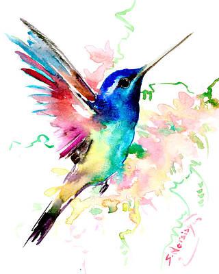 Flying Hummingbird Poster