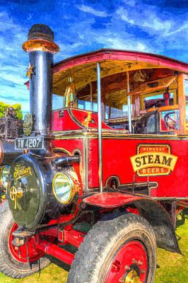 Foden Steam Lorry Art Poster