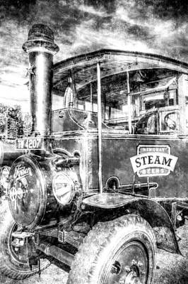 Foden Steam Lorry Vintage Poster