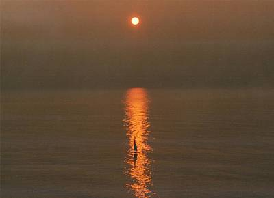 Foggy Sunrise On Virginia Beach Poster