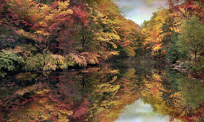 Poster featuring the photograph Foliage Reflections by Jessica Jenney