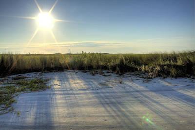 Folly Beach Sunrise Over Morris Island Poster