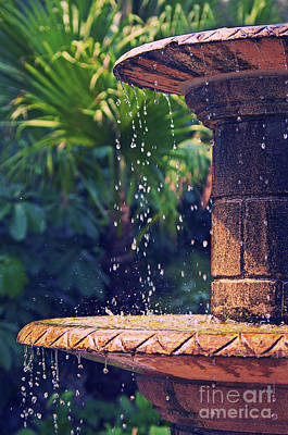 Fountain Poster by Angela Doelling AD DESIGN Photo and PhotoArt