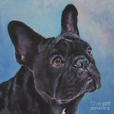 Poster featuring the painting French Bulldog by Lee Ann Shepard