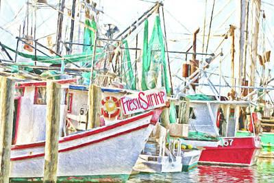 Fresh Shrimp Dockside Poster