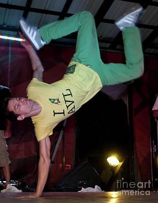 Fresh Trix Breakdancing At Bonnaroo Music Festival Poster by David Oppenheimer