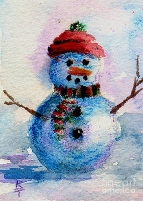 Poster featuring the painting Frosty Aceo by Brenda Thour