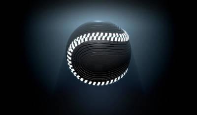 Futuristic Neon Sports Ball Poster by Allan Swart