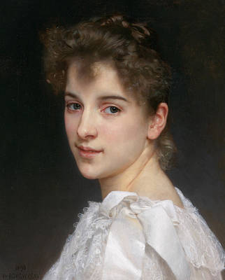 Gabrielle Cot Poster by William-Adolphe Bouguereau
