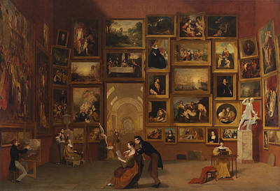Gallery Of The Louvre Poster by Samuel Morse