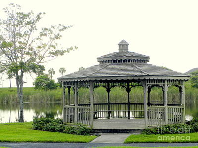 Poster featuring the photograph Gazebo by Terri Mills