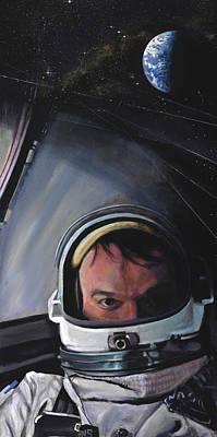 Gemini X- Michael Collins Poster by Simon Kregar