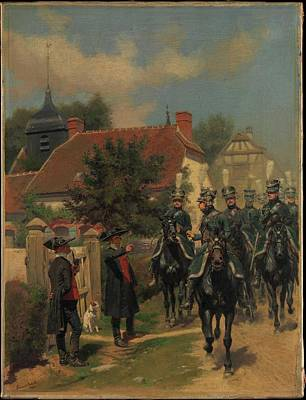 Gendarmes D'ordonnance Poster by douard Detaille
