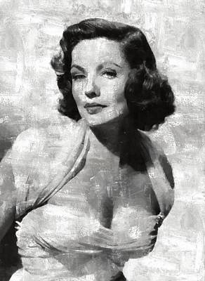 Gene Tierney Hollywood Actress Poster by Mary Bassett
