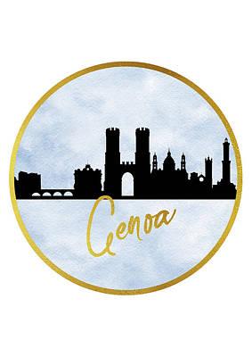 Genoa Skyline-blue Poster