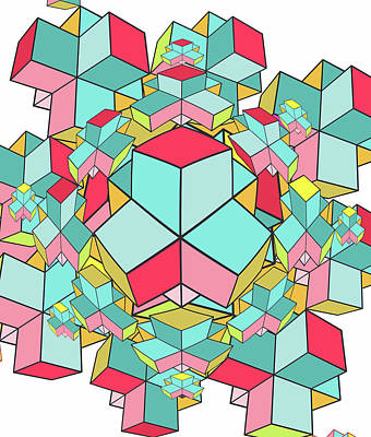 Geometric In Colors Poster