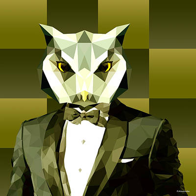 Geometric Owl Poster by Gallini Design