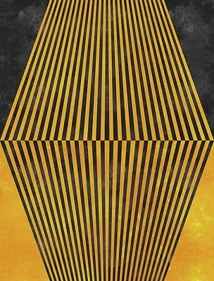 Geometric Soul Mates Poster by Francisco Valle