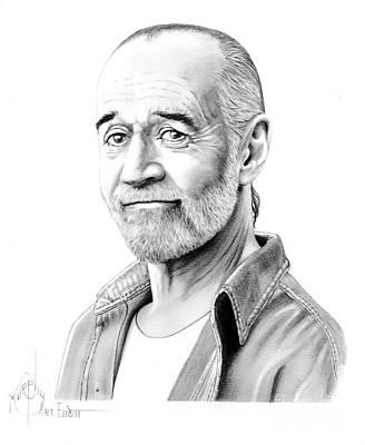 George Carlin Poster by Murphy Elliott