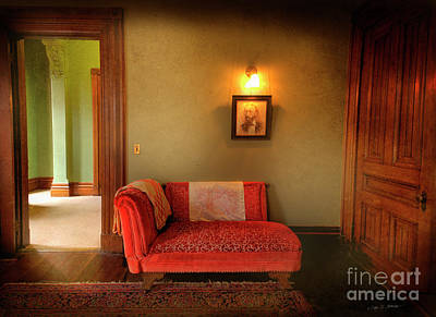 Poster featuring the photograph George's Red Sofa by Craig J Satterlee