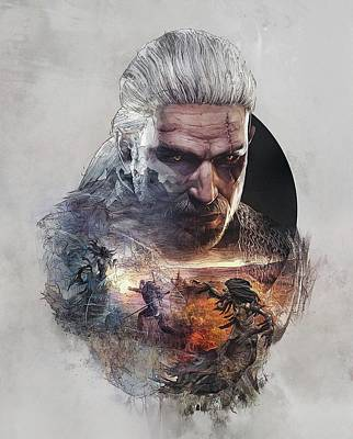 Geralt Of Rivia - The Witcher Poster by Lobito Caulimon