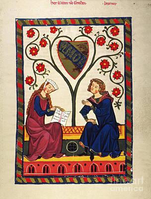 German Minnesinger 14th C Poster by Granger