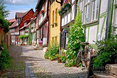 German Old Village Quedlinburg Poster by Heiko Koehrer-Wagner