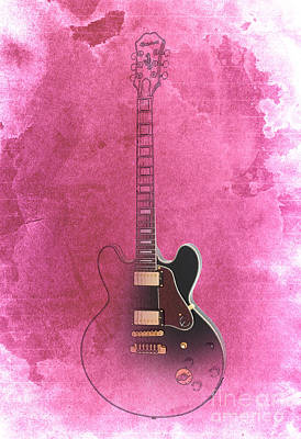 Gibson Lucille Guitar Poster by Pablo Franchi
