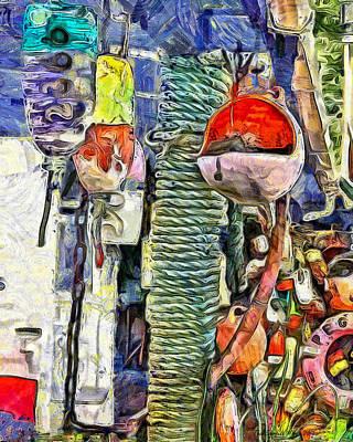 Ginos Buoys Poster by Thom Zehrfeld