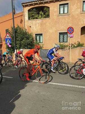 Giro D'italia Passes In San Pataleo, Italy Poster