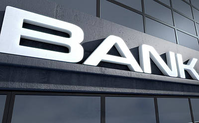 Glass Bank Building Signage Poster by Allan Swart